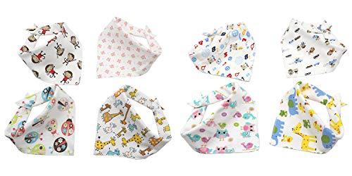 DPLUS, Baby-Lätzchen, Baby-Lätzchen, Bandana-Lätzchen, saugfähiges Bandana-Lätzchen, 100% Baumwolle, 1-4 Jahre, 8 Stück - Bandana-lätzchen Für Baby
