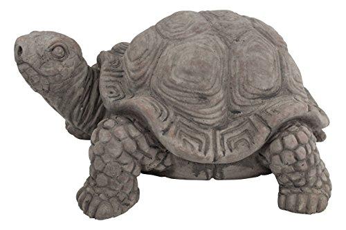 Deko Tier-Figur Schildkröte dunkelgrau mittel - 1 Stück