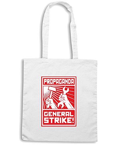 Cotton Island - Borsa Shopping TCO0001 general strike comunismo, Taglia Capacita 10 litri