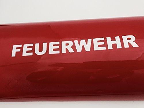 Auto Schriftzug (2x FEUERWEHR Schriftzug Aufkleber Auto Aufkleber weiss (20cm))