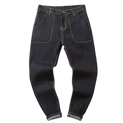 Pantalones Rotos Largos Vaqueros Pantalones ZARLLE Vaqueros De Moto De Hombres Pantalones...