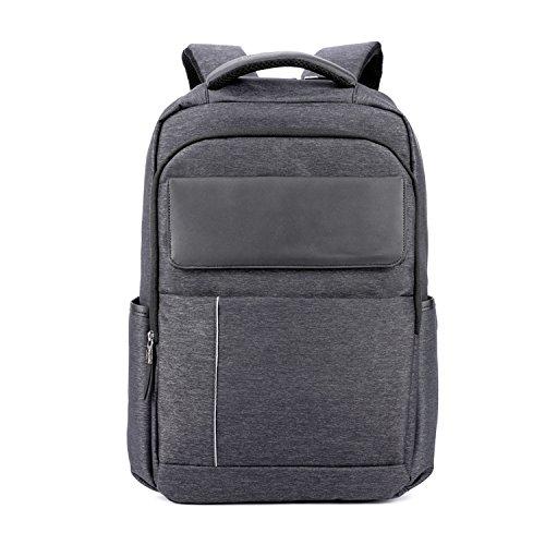 Wsnh888 zaino da uomo da 18 pollici zaino per laptop in tessuto oxford zaino borsa da lavoro casual daypack per scuola, lavoro, viaggio-23l/grigio