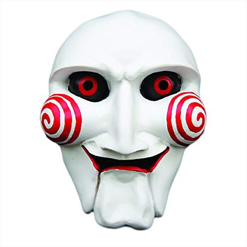 Kostüm Kettensägen Mann - CANE Halloween Kettensäge Weinen Maske Horror Party Weißer Teufel Maskerade Mann Rollenspiele Kostüm Party Und Harz Material Requisiten