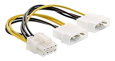 InLine 26628C Intérieur 0,15m PCI-E (8-Broches) 2x Molex (4-Broches), Noir, Blanc, Jaune, câble d'alimentation par InLine