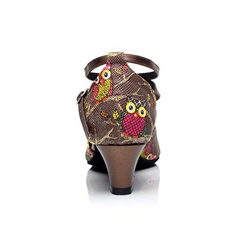 Minitoo, Scarpe da ballo donna Coffee