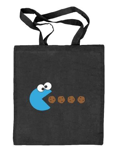 Tasche schwarz MONSTER BLUE Shirtstreet24 natur Stoffbeutel ONE Jute SIZE q1SIFfwa