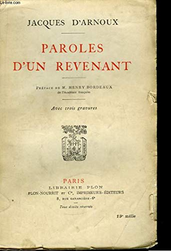 Paroles d'un revenant