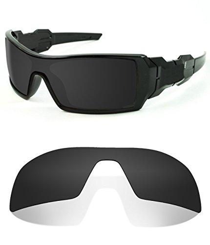 Littlebird4 1,5mm Polarisiert Ersatz-Objektive für Oakley Oil Rig Sonnenbrille-Mehrere Möglichkeiten, Dark Black