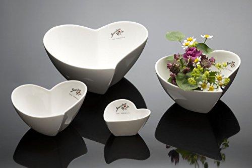 SANDRA Rich Bol en porcelaine en blanc taille : Large