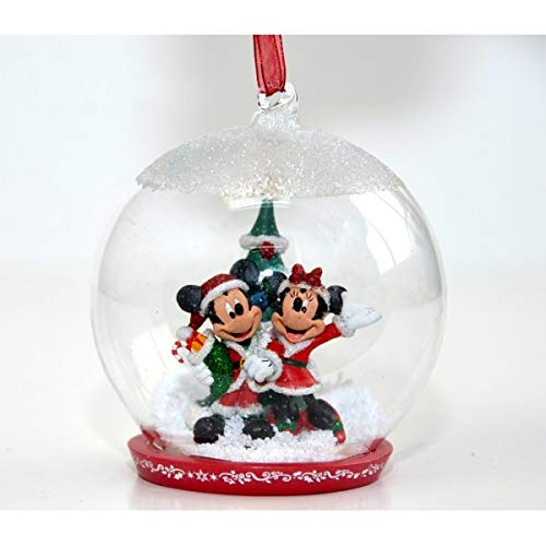 Weihnachtskugel Mickey und Minnie Maus