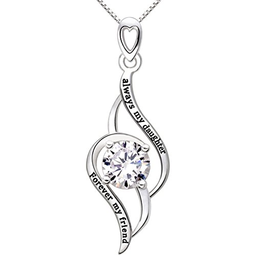 alov-jewelry-sterling-silver-always-my-daughter-forever-my-friend-love-cubic-zirconia-pendant-neckla