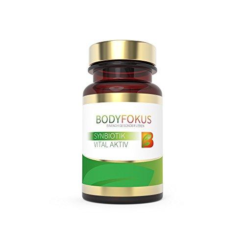 BodyFokus SynBiotik Vital Aktiv - Probiotika und Präbiotika für Ihre Darmflora und gute Verdauung - 1 Dose