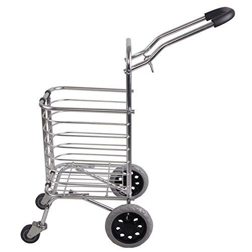 Preisvergleich Produktbild SSDM Beweglicher Zugstangen-Laufkatze-Einkaufswagen-Kletternde Treppe-Faltende Lebensmittelgeschäft-Kleiner Wagen-Älterer Laufkatze