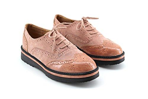 Modelisa, Zapatos Con Cordones Rosas Para Mujer