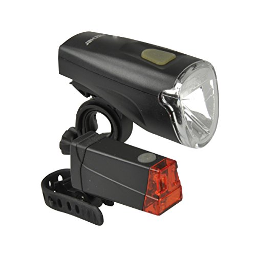 fischer - Luz LED para Bicicleta, a Pilas, Color Negro