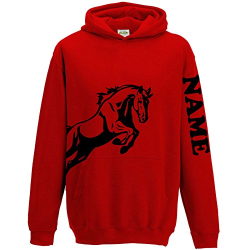 997d0ccf FunkyShirt Personalised Equestrian Hoodie Horse Riding Hoody for Girls