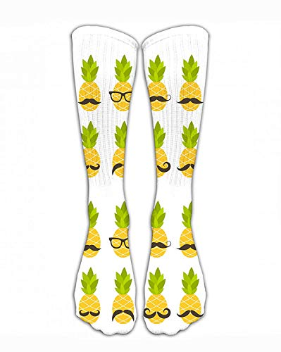 ouyjian Crew Sock Cute Pineapples Sunglasses Crew Athletic Socks Fashion Personalized Novelty Funny Strumpfs Men Women