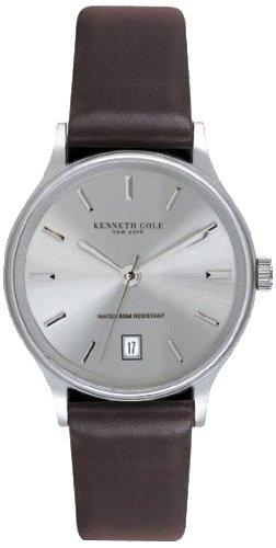 kenneth-cole-kc1025-reloj-analogico-de-caballero-de-cuarzo-con-correa-de-piel-marron
