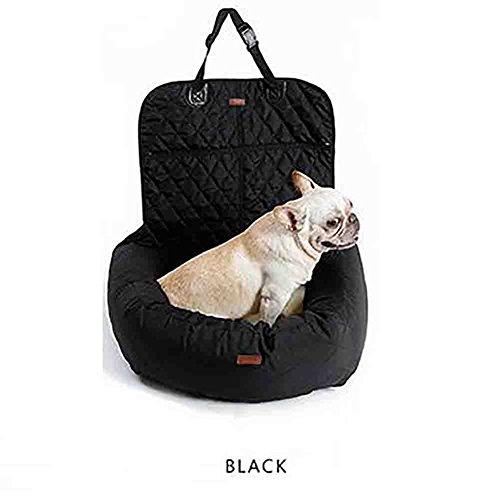 Klapp Haustier Hund Katze Autositz Pet Carrier Seat Protector Atmungsaktive Booster Bag,Black