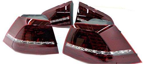 Original Volkswagen LED Heckleuchten Golf 7 R schwarz 5G1052200D (7 Led-rücklicht)
