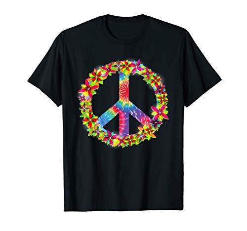 Kostüm 60er Kind Jahre - Retro Hippie Peace Love Flower - 60er 70er Jahre Kostüm T-Shirt