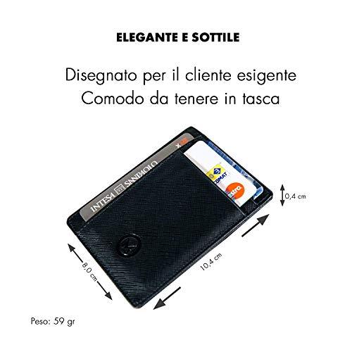 9c31846b4d OMTEK Portafoglio Uomo Porta Carte di Credito RFIDPorta Tessere ...