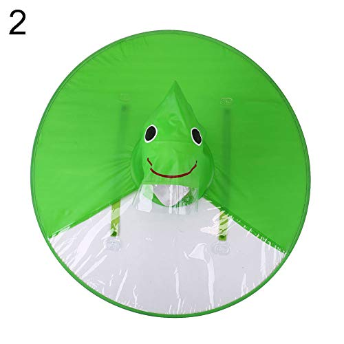 strimusimak Cute Animals Pattern Shape Kids Raincoat, Unisex PVC Waterproof Windproof Outdoor Travel Sports Poncho