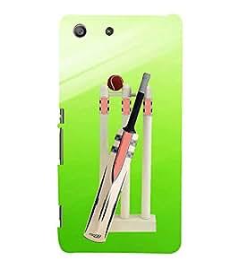 PrintVisa Cricket Vector Background 3D Hard Polycarbonate Designer Back Case Cover for Sony Xperia M4 Aqua :: Sony Xperia M4 Aqua Dual