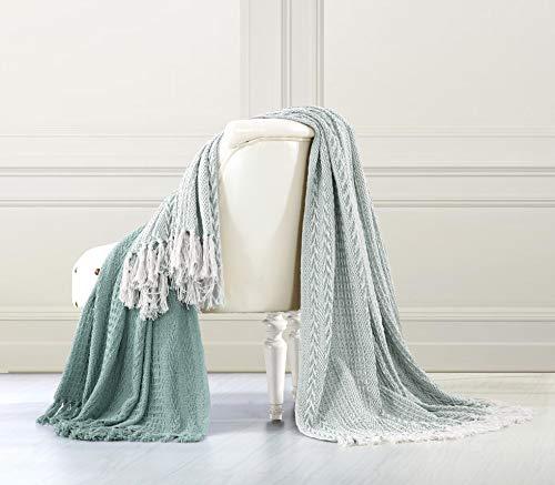 100 Pct Baumwolle (PCT 100% Batik Dusty Baumwolle Überwurf, Blau, 2-teilig)