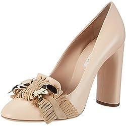 Casadei1f229 - Zapatos de Tacón Mujer , color beige, talla 36 EU