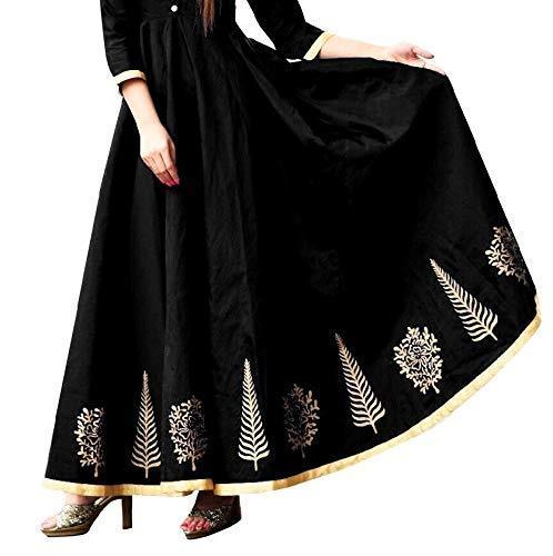 Kurti Women's Clothing Kurti For Women Wear Kurti Collection In Latest Kurti Beautiful Bollywood Kurti For Women Party Wear Offer Designer Kurti (Black)