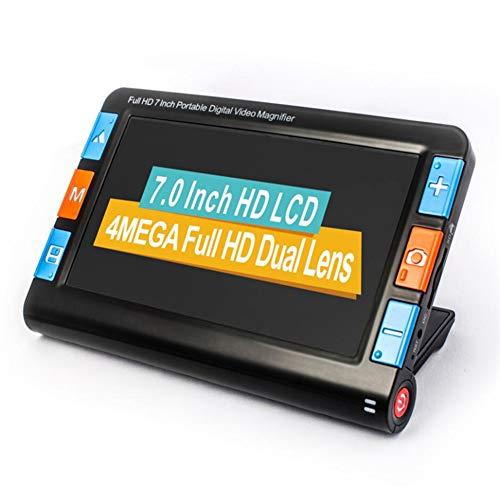 1024 Brille (Saiko Elektronische Leselupe 7 Zoll, 5200MAH Wiederaufladbare Video Digital Magnifier Elektronische Lesehilfe Leselupen, 2X-32X-Zoom, 26 Farbmodi, 4 Stunden Arbeitszeit, 1024 * 600 Pixel)