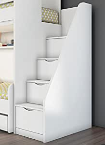 newjoy hochbett treppe inkl schubladen treppe f r hochbetten k che haushalt. Black Bedroom Furniture Sets. Home Design Ideas