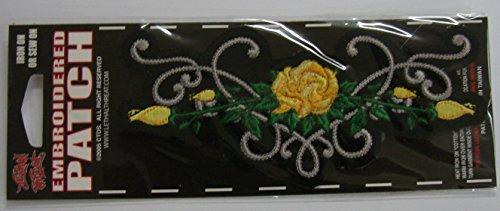 LETHAL THREAT toppa con logo Rose Tribal giallo 14x 6cm st31031
