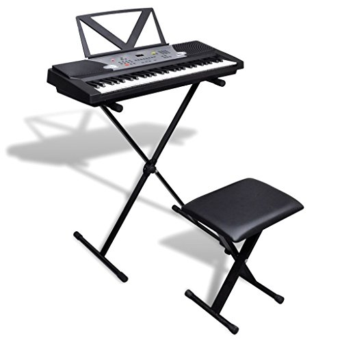 Elektro-Piano mit 54Tasten mit Standfunktion, verstellbarer Ständer und Hocker