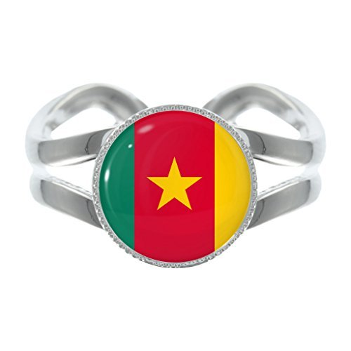cameroon-republic-flag-design-silver-plated-adjustable-ring