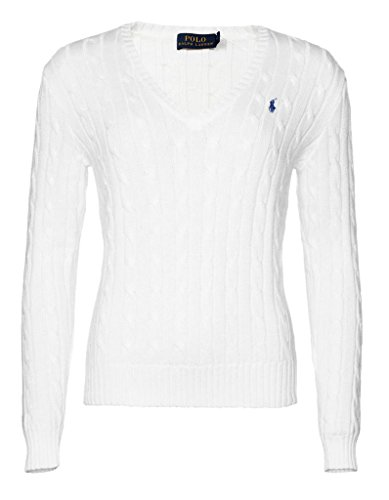 Polo Ralph Lauren Cable Knit V-Neck Cotton Pullover Kimberly M Weiss