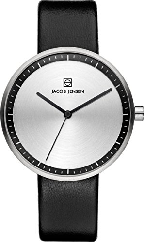 Jacob Jensen Damen-Armbanduhr Analog Quarz Leder 32280