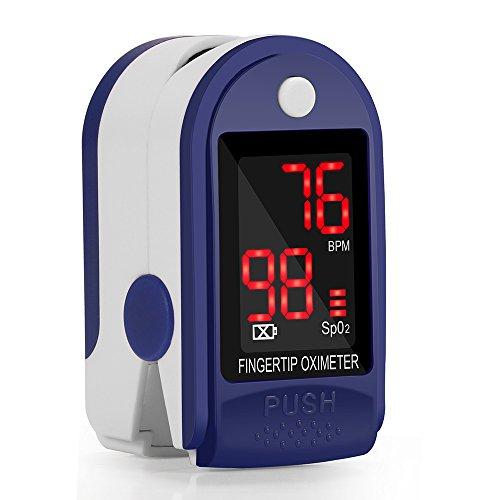 Oximeter Herzfrequenzmesser Pulsoximeter Digital Fingerpulsoximeter Hohe Genauigkeit SPO2 mit LED-Anzeige und Gut Geschenke Für Ältere Zubehör für Alle Menschen im Krankenhause zu Hause