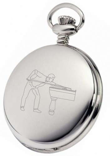 PERSONALISED-SILVER-SNOOKER-POOL-POCKET-WATCH-PW56-CAN-BE-PERSONALISED-ENGRAVED-FREE