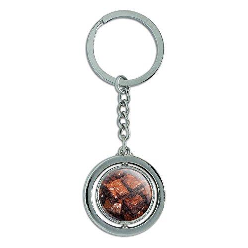Brownies Spinning rund Metall Schlüsselanhänger Schlüsselanhänger Ring (Runde Brownie)