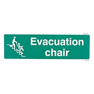 Caledonia Signs 22147G Evakuation Chair Schild, selbstklebendes Vinyl, 300 mm x 100 mm