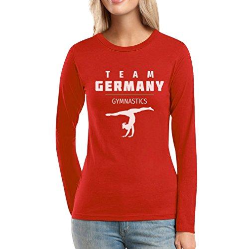 Sportgymnastik Turnen Team Germany - Rio Fanshirt Frauen Langarm-T-Shirt Rot