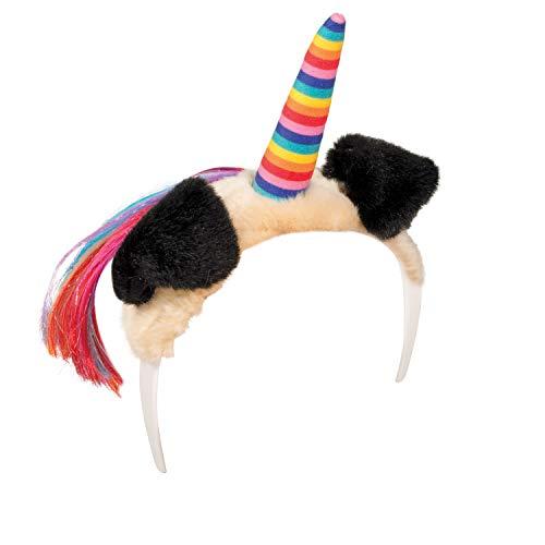 Dreamy Dress-Ups 62737 Headband, Pugicorn with Rainbow Horn, -