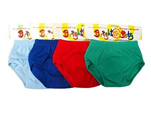 Bright Bots Washable Potty Training Pants 4pk Extra Large with PUL waterproof Lining - Boy (approx 2-3yr)