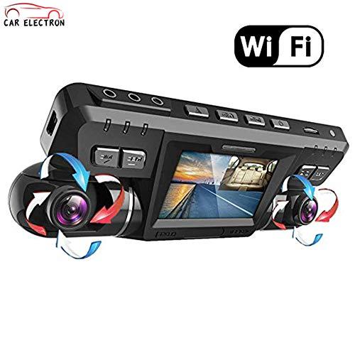 Dash Cam con WiFi/Dual 1920x1080P Frontal y cabina Cámara para autos Taxi...
