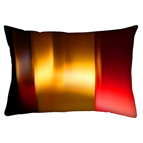 Snoogg Abstract Colorful Pattern Design Rectangle Toss Throw Pillow Cushion Cover Decoarative...