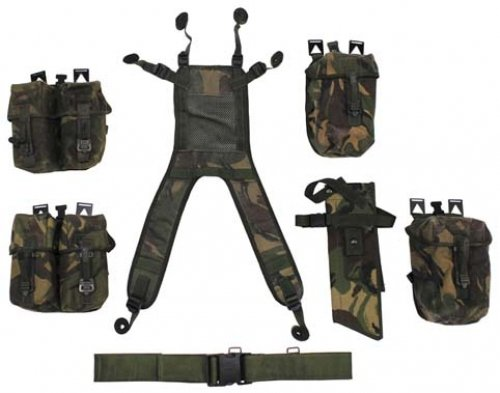Brit. Tactical Set, DPM tarn, 7-teilig, gebr.