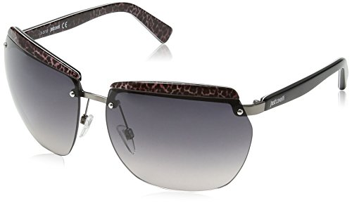 Just Cavalli JC503S Aviator Sonnenbrille, Black & Dark Grey Frame / Gradient Grey