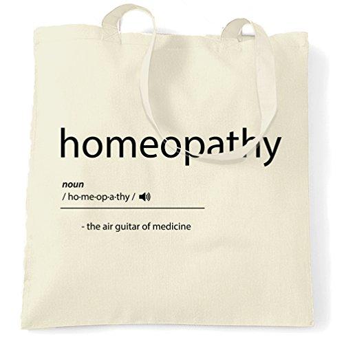 Homöopathie Die Luftgitarren-Of Medicine Printed Slogan Zitat Entwurf Tragetasche